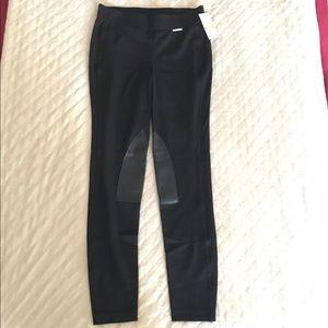NWT Michael Kors sim. leather patch leggings sz S